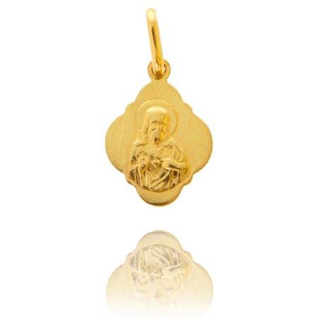 Złoty medalik pr. 585 M.B. Szkaplerzna koniczynka mała ZM010