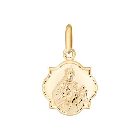 Złoty medalik pr. 585 M.B. Szkaplerzna koniczynka średnia ZM011