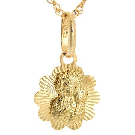 Złoty medalik pr. 585 Matka Boska Częstochowska  ZM094
