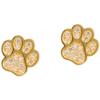 Złote kolczyki pr. 585 Łapki cyrkonie sztyft ZA037