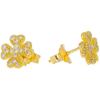 Złote kolczyki pr. 585 koniczynka mała cyrkonie sztyft ZA030