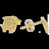 Złote kolczyki pr. 585 rybka cyrkonie sztyft ZA020