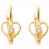 Złote kolczyki pr. 585 serduszka I cyrkonie  ZA082