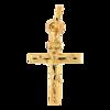 Złoty krzyżyk pr. 585 Krzyż prosty z wizerunkiem Jezusa ZK007